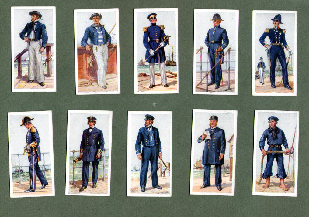 Collectible Tobacco Cigarette Cards History Of Naval